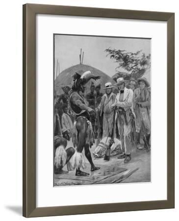 Chaka Lieutenant Farewell Negotiates with Chaka King of the Zulus in Natal
