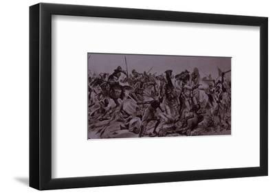 Dervish Warriors at Omdurman, Charge of the 21st Lancers (Litho)