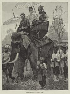 A Burmese Prince on a Visit of State by Richard Caton Woodville II