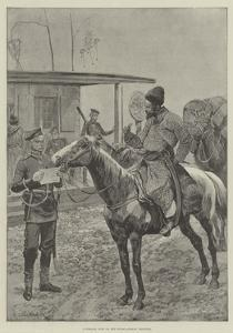 A Cossack Post on the Russo-Afghan Frontier by Richard Caton Woodville II