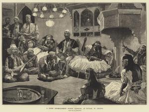A Night Entertainment During Ramazan, at Scutari, in Albania by Richard Caton Woodville II