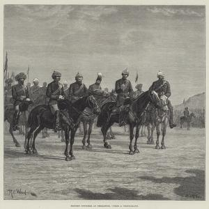 British Officers at Peshawur by Richard Caton Woodville II