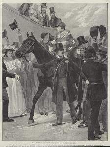 Lord Rosebery Leading in Ladas after the Race for the Derby by Richard Caton Woodville II