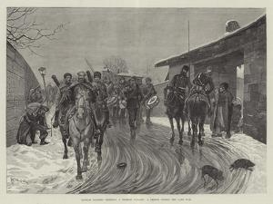 Russian Soldiers Entering a Turkish Village, a Sketch During the Late War by Richard Caton Woodville II