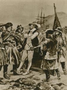 Sir Humphrey Gilbert Claims Newfoundland for England by Richard Caton Woodville II