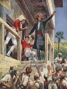 The Attack on the House of Sir Alexander Burnes, 1841 by Richard Caton Woodville II