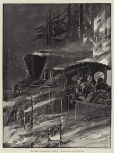 The Forest Conflagrations in America, a Railway Train Racing the Fire by Richard Caton Woodville II