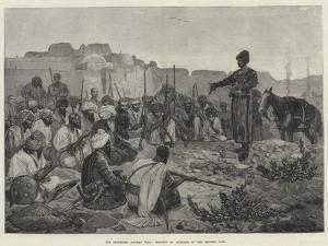 The Impending Afghan War, Meeting of Afreedis in the Khyber Pass by Richard Caton Woodville II