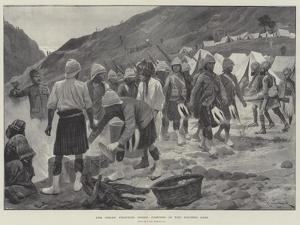 The Indian Frontier Rising, Camping in the Khyber Pass by Richard Caton Woodville II