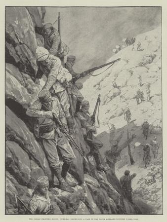 The Indian Frontier Rising, Gurkhas Descending a Pass in the Upper Mohmand Country under Fire