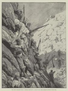 The Indian Frontier Rising, Gurkhas Descending a Pass in the Upper Mohmand Country under Fire by Richard Caton Woodville II