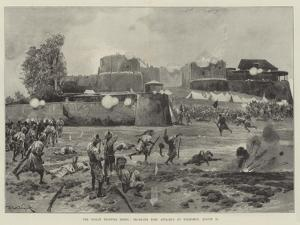 The Indian Frontier Rising, Shabkadr Fort Attacked by Tribesmen, 10 August by Richard Caton Woodville II