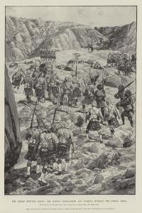 The Indian Frontier Rising, the Gordon Highlanders and Gurkhas Storming the Dargai Ridge by Richard Caton Woodville II