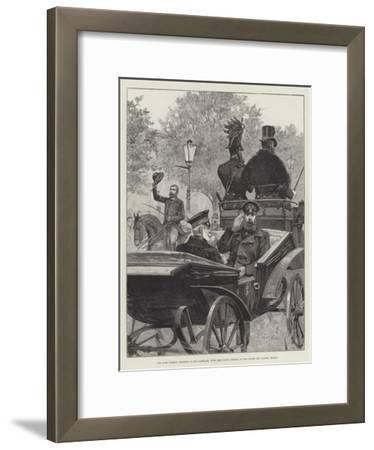 The Late German Emperor in His Carriage, with the Crown Prince, in the Unter Den Linden, Berlin