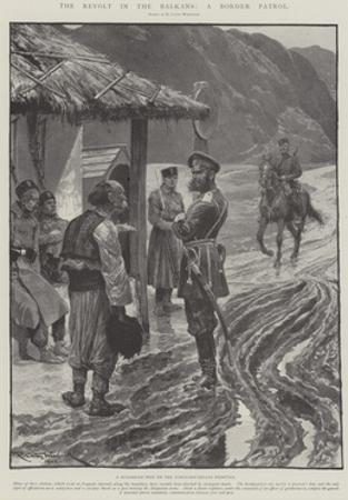 The Revolt in the Balkans, a Border Patrol by Richard Caton Woodville II