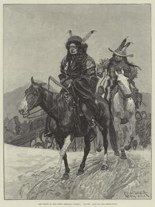 The Rising of the North American Indians, Braves Leaving the Reservation by Richard Caton Woodville II