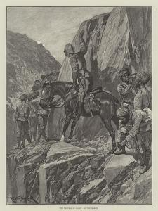 The Trouble in Gilgit, on the March by Richard Caton Woodville II