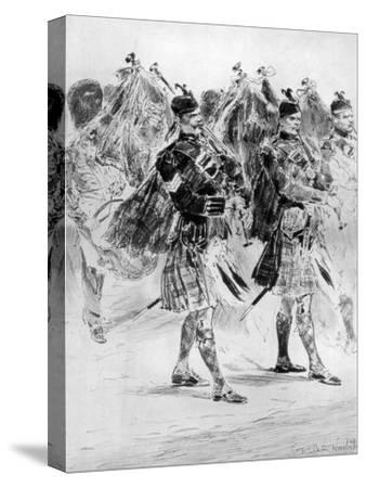 To the Wail of the Pipes, the Highland Soldiers' Lament, 1910