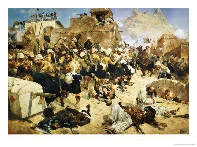 The 92nd Highlanders and the 2nd Gurkhas Storming Gaudi Mullah Sahibhad, Candahar