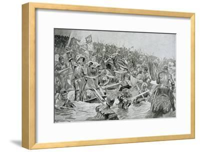 The Battle of Towton in 1461, Illustration from Hutchinsons 'Story of the British Nation'