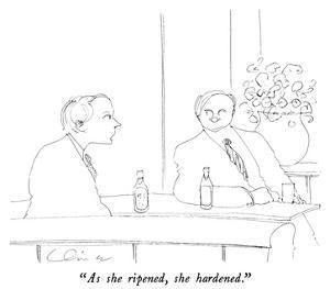 """As she ripened, she hardened."" - New Yorker Cartoon by Richard Cline"