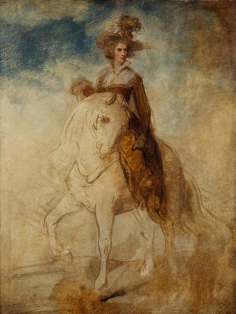 Equestrian Portrait of a Lady, Said to Be Lady Elizabeth Foster