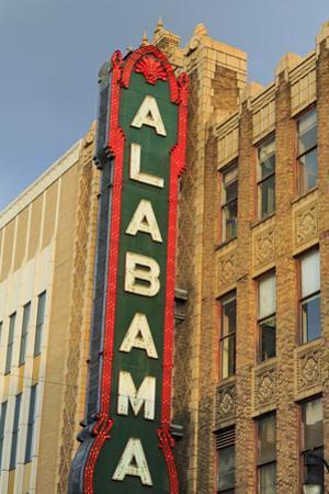 Alabama Theatre on 3rd Street, Birmingham, Alabama, United States of America, North America by Richard Cummins