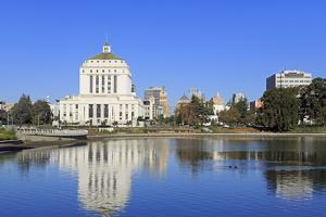Alameda County Court House and Lake Merritt by Richard Cummins