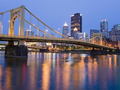 Andy Warhol Bridge (7th Street Bridge) over the Allegheny River, Pittsburgh, Pennsylvania, United S by Richard Cummins