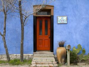 Blue House in Barrio Historico District by Richard Cummins