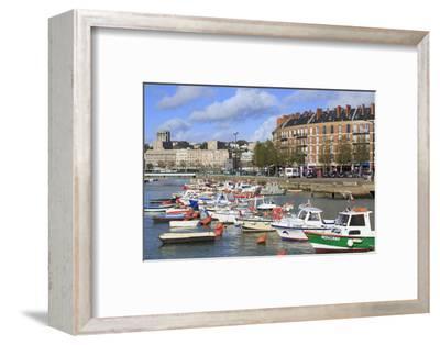 Boats in Saint Francois Quarter, Le Havre, Normandy, France, Europe