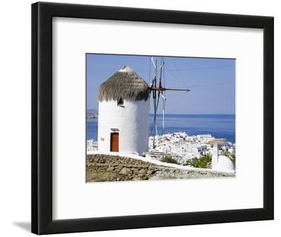 Bonis Windmill at the Folklore Museum in Mykonos Town, Island of Mykonos, Cyclades, Greek Islands,