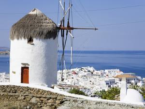Bonis Windmill at the Folklore Museum in Mykonos Town, Island of Mykonos, Cyclades, Greek Islands,  by Richard Cummins