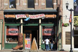 Boot Store on Broadway Street, Nashville, Tennessee, United States of America, North America by Richard Cummins
