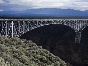 Bridge over the Rio Grande Gorge, Taos, New Mexico, United States of America, North America by Richard Cummins