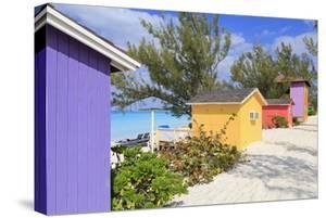 Cabana on Half Moon Cay, Little San Salvador Island, Bahamas, West Indies, Central America by Richard Cummins