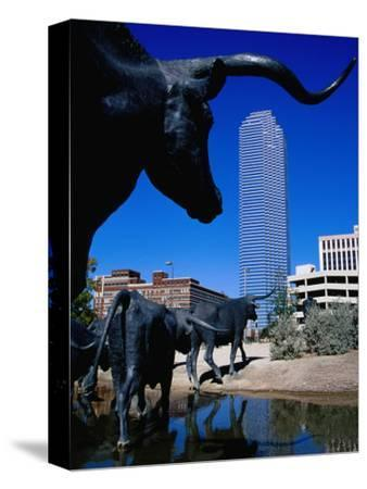 Cattle-Drive Sculptures at Pioneer Plaza, Dallas, Texas
