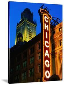 Chicago Theatre Facade and Illuminated Sign, Chicago, United States of America by Richard Cummins