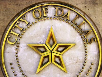 City Crest on City Hall, Dallas, Texas by Richard Cummins