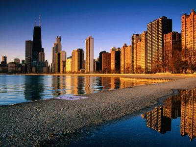 City Skyline from North Avenue Beach, Chicago, United States of America by Richard Cummins
