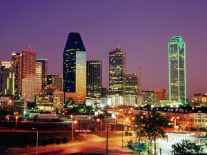 City Skyline Illuminated at Dusk, Dallas, United States of America by Richard Cummins