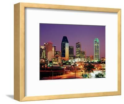 City Skyline Illuminated at Dusk, Dallas, United States of America