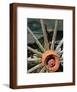 Close Up of an Old Wooden Wagon Wheel,Tombstone, Arizona, USA by Richard Cummins