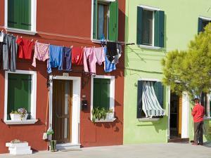 Corte Novello on Burano Island, Venice, Veneto, Italy, Europe by Richard Cummins