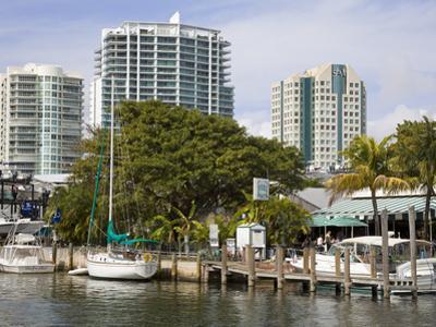 Dinner Key Marina in Coconut Grove, Miami, Florida, United States of America, North America by Richard Cummins