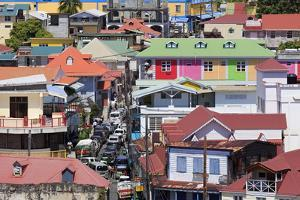 Downtown Roseau, Dominica, Windward Islands, West Indies, Caribbean, Central America by Richard Cummins