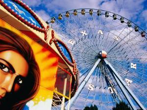 Ferris Wheel and Fairground Ride, Texas State Fair, Fair Park, Dallas, United States of America by Richard Cummins
