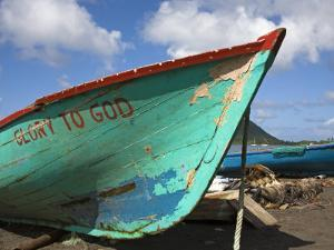 Fishing Boat, Prince Rupert Bay, Portsmouth, Dominica, Windward Islands, West Indies by Richard Cummins