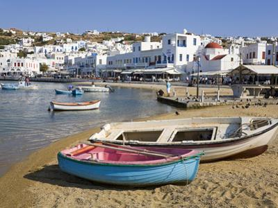 Fishing Boats in Mykonos Town, Island of Mykonos, Cyclades, Greek Islands, Greece, Europe by Richard Cummins