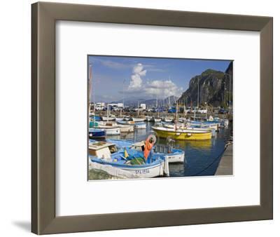 Fishing Boats in the Port of Marina Grande, Capri Island, Bay of Naples, Campania, Italy, Europe